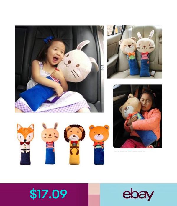 Seat Pet Seatbelt Buddy Kids Car Belt Pad Soft Toy Cat Tiger Monkey Ladybird Animal Pillows Cushion Pillow Covers Reversible Pillow