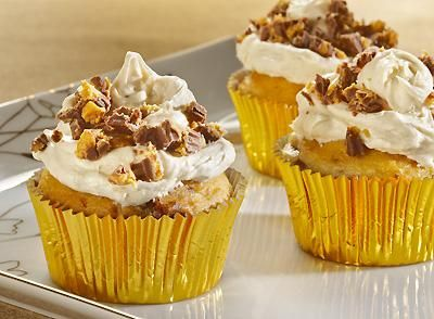 peanut butter cupcakes made with cake mix