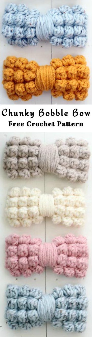 Let\'s Make Bows - Free Crochet Patterns | Hacer arcos, Moños y ...
