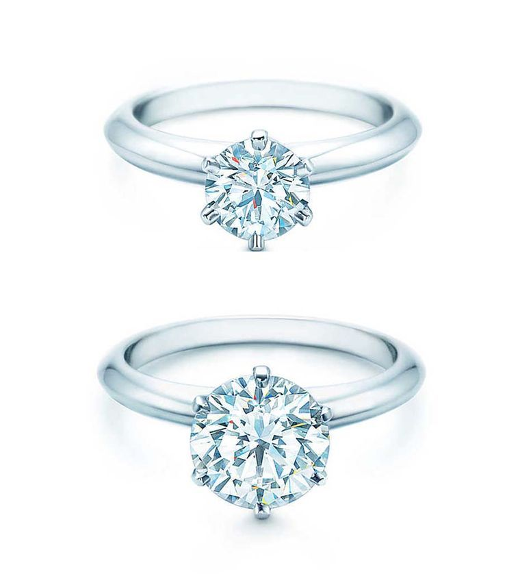 What S The Difference Between Engagement Ring And Wedding Ring: The Pure, Clean Lines Of The Best-selling Tiffany Setting