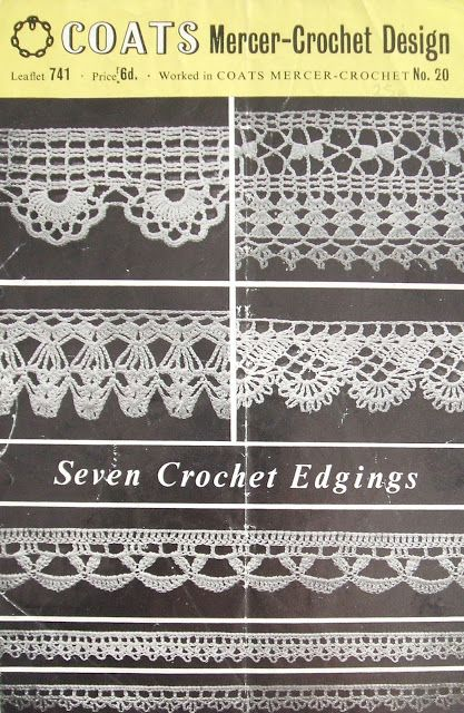 Free Crochet Edgings Patterns Knit Crochet Pinterest Crochet