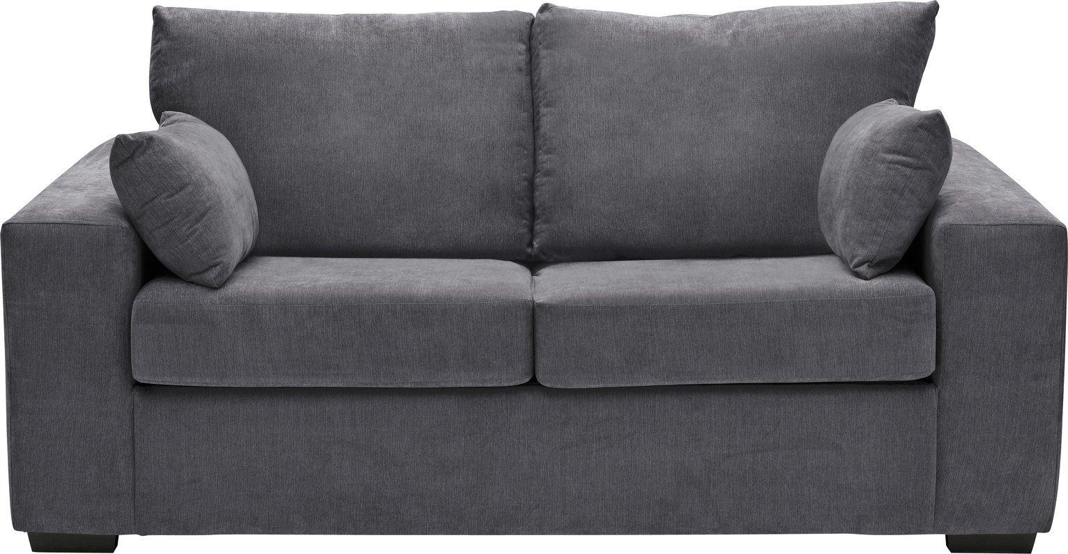 Buy Argos Home Eton 2 Seater Fabric Sofa Bed Charcoal Sofa
