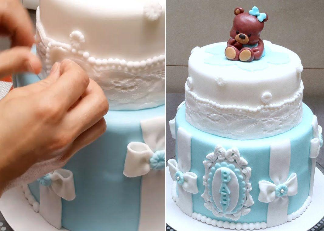 Tutorial Bolo Chá de bebê | Cake , Cupcake & Cake Pops too ...