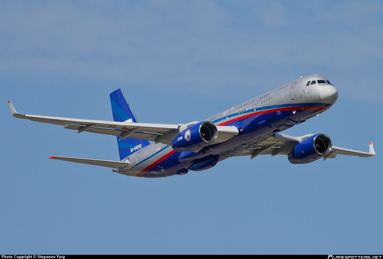 Tu 214on Open Skies Reconnaissance Aircraft Russia