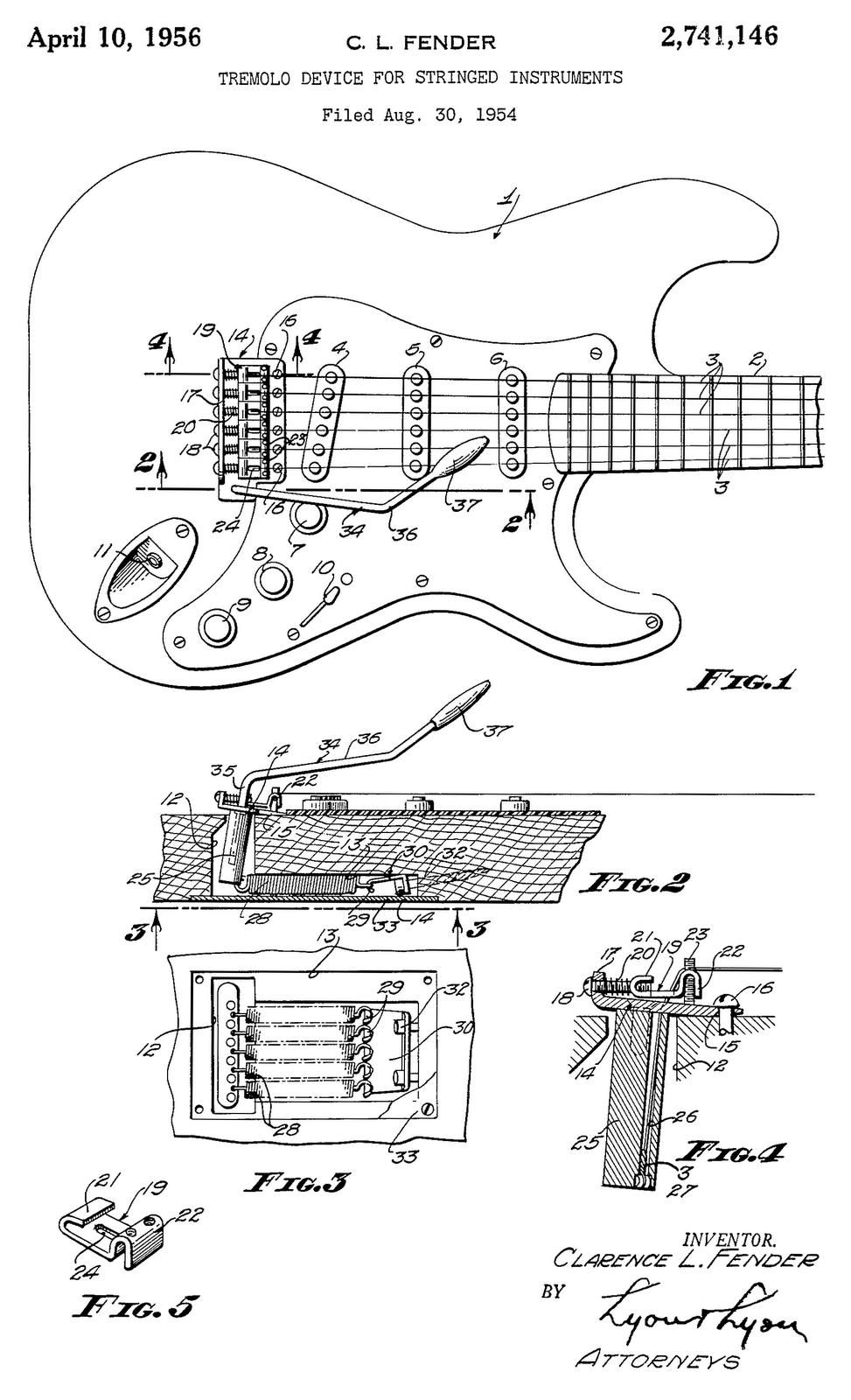 vintage fender blueprints [ 973 x 1600 Pixel ]
