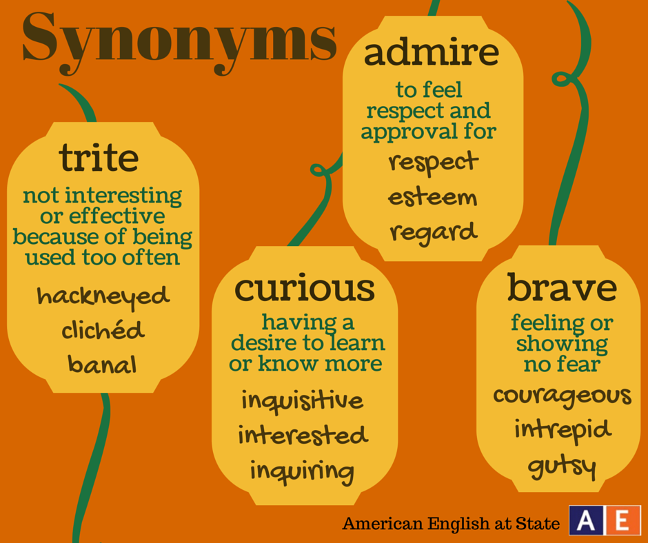 It's time for Synonym Sunday! Check out these four words