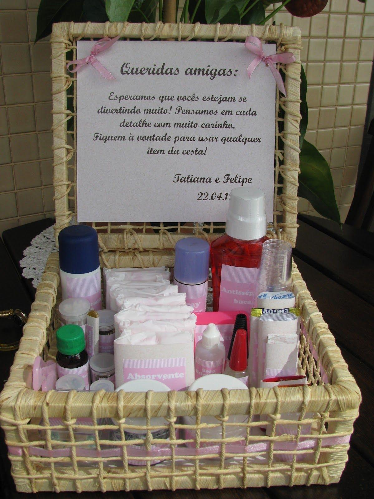 Kit Banheiro Para Casamento Goiania : Kit toalete cesta inspira??o pra simples casamento
