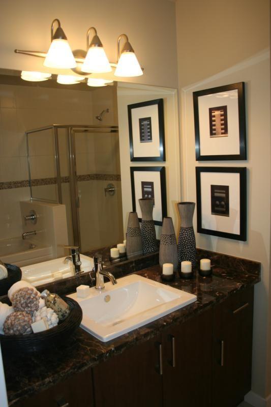 Staged bathrooms don't need much............. | Bathroom ... on Model Bathroom Ideas  id=17229