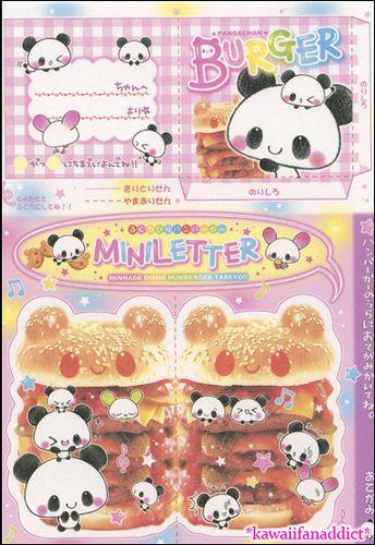 Kawaii panda envelope