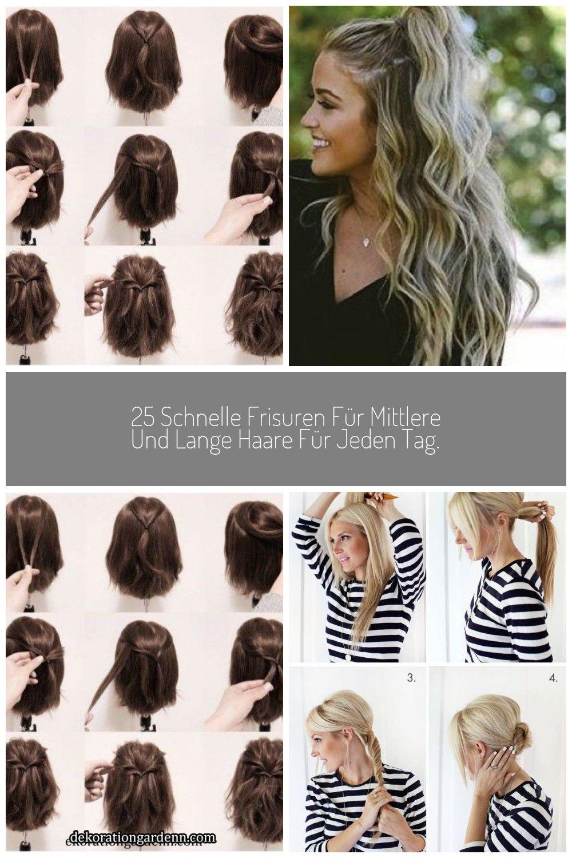 12 schnelle Frisuren für mittlere und lange Haare für jeden Tag