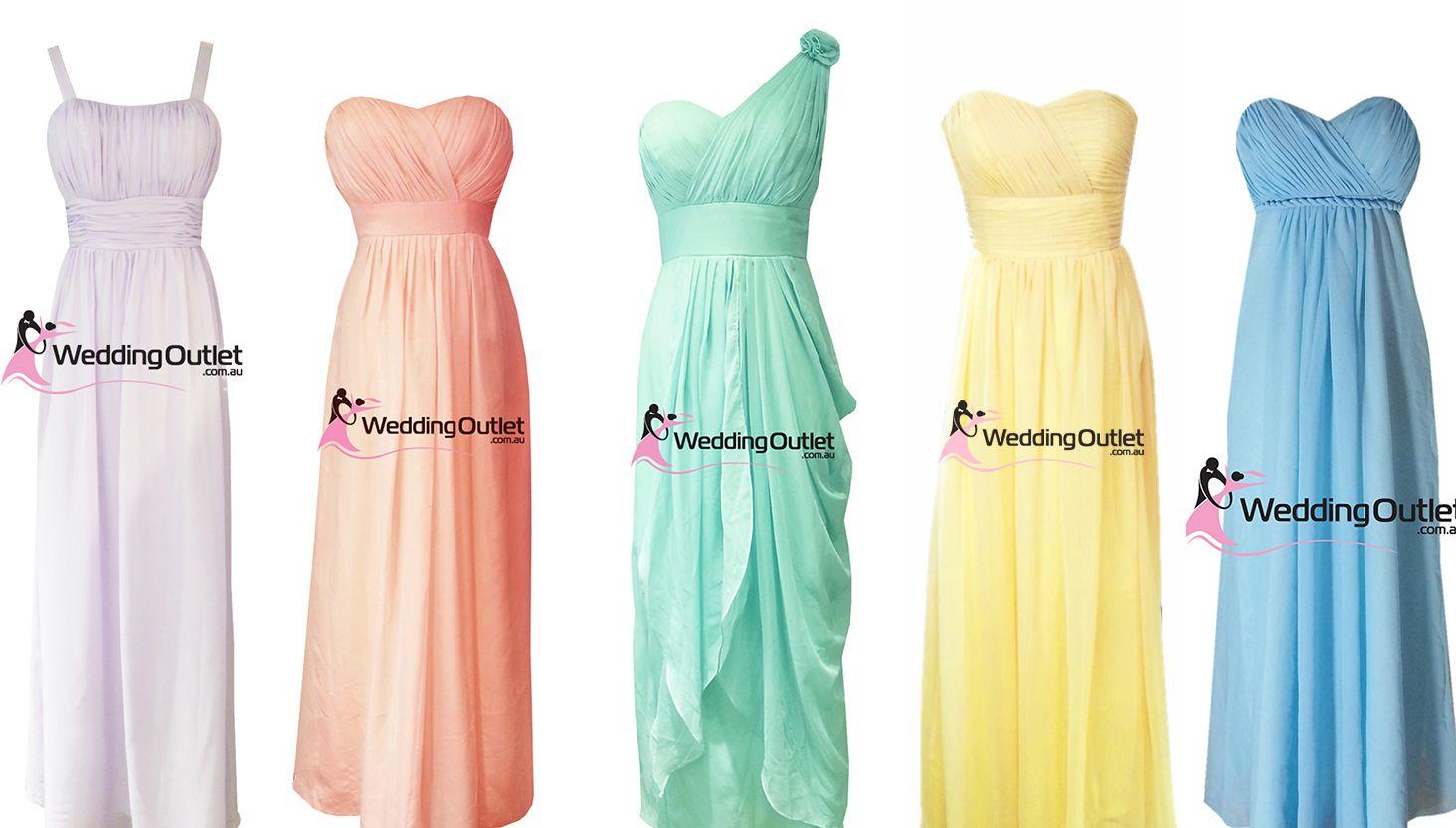 Rainbow Wedding Theme Rainbow Bridesmaid Dresses Pinterest