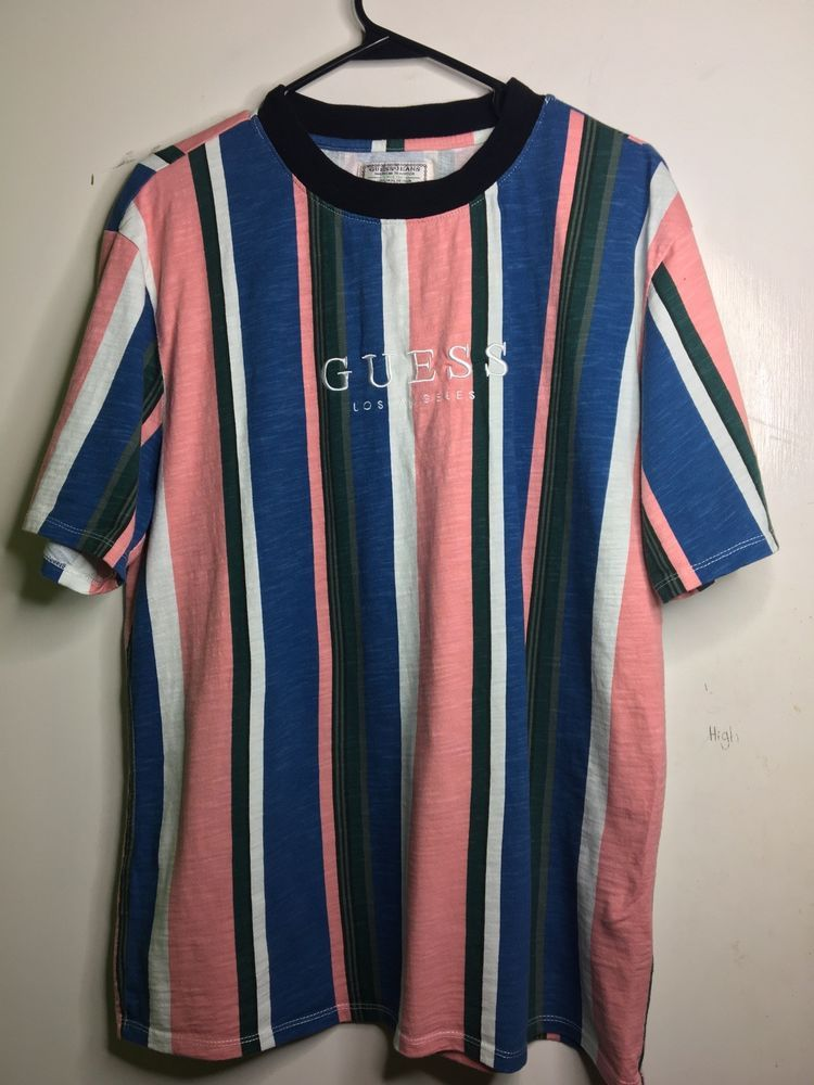 d4b68ac724bb Guess Los Angeles Striped Shirt. #fashion #clothing #shoes #accessories  #mensclothing #shirts (ebay link)