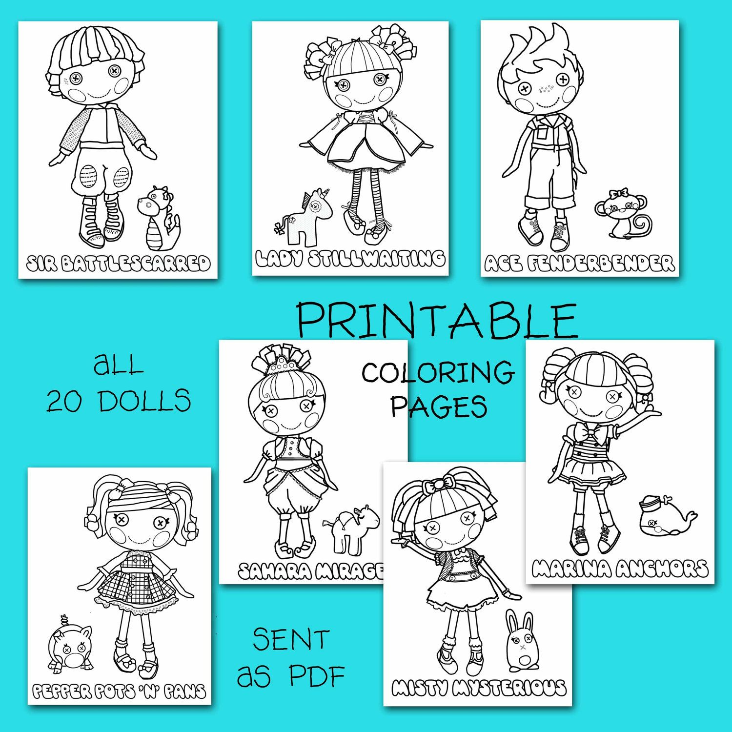 Unavailable Listing On Etsy Lalaloopsy Party Coloring Pages Kids Party