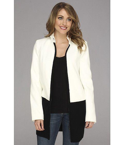 Calvin Klein Calvin Klein  Melton Jacket w Sweater Trim Birch Womens Jacket for 99.99 at Im in!