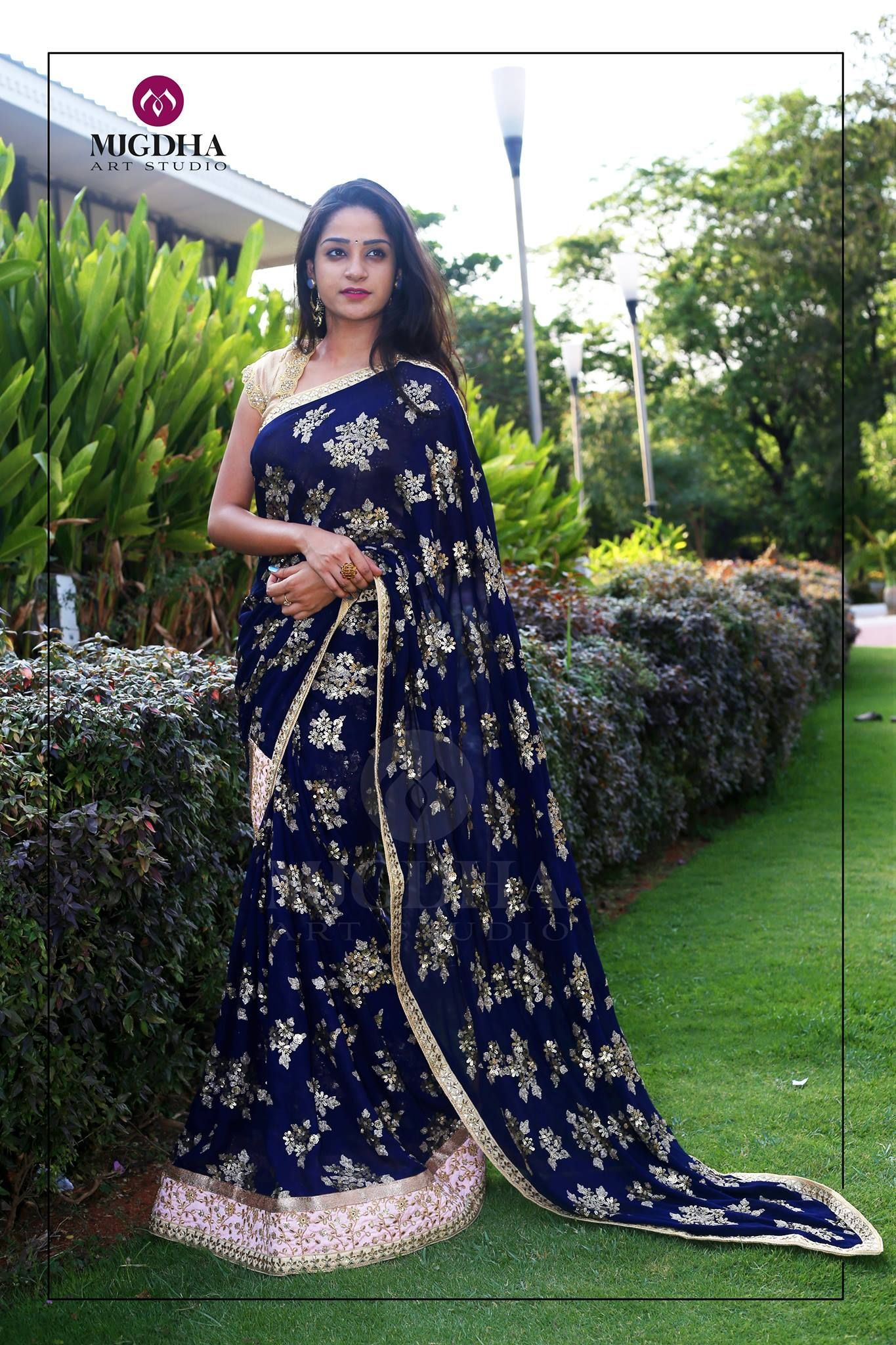 Gorgeous Saree with beautiful design from the house of  MugdhaArtStudio