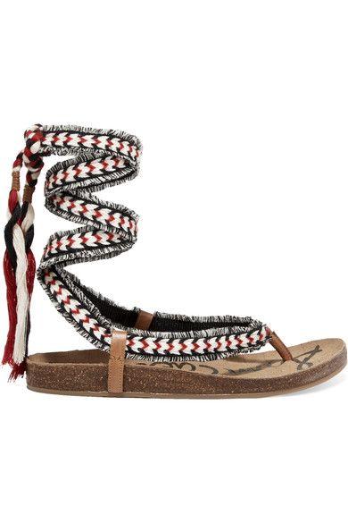 45b7bac5c8492 SAM EDELMAN Kelby tasseled woven sandals.  samedelman  shoes  sandals