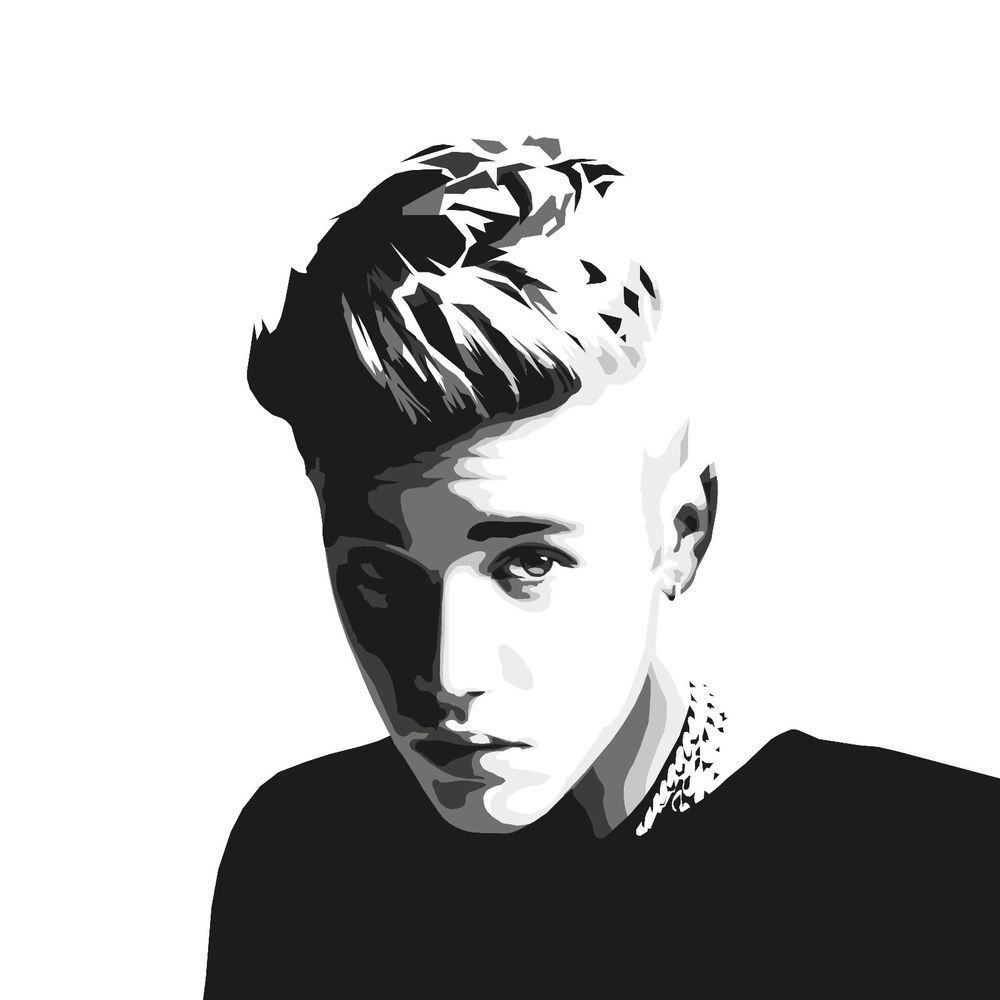 Justin Bieber Drawing Art Illustration Canvas Print | Dibujo ...