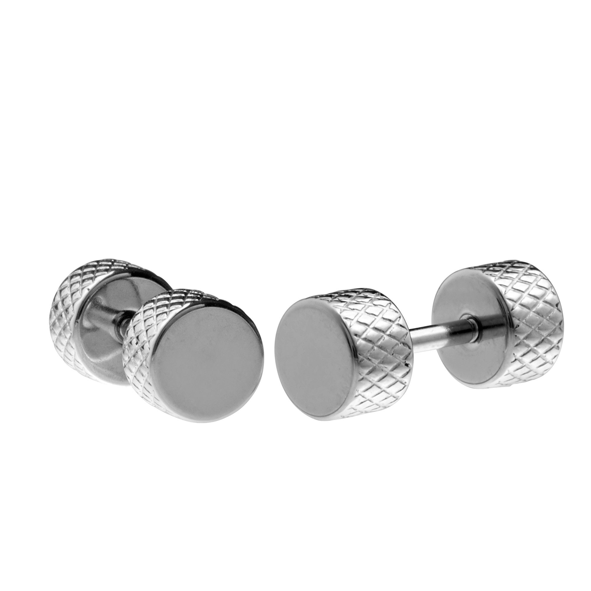 earrings hoop gun temego jewelry p clearance processing huggie steel set stainless mens black stud novelty