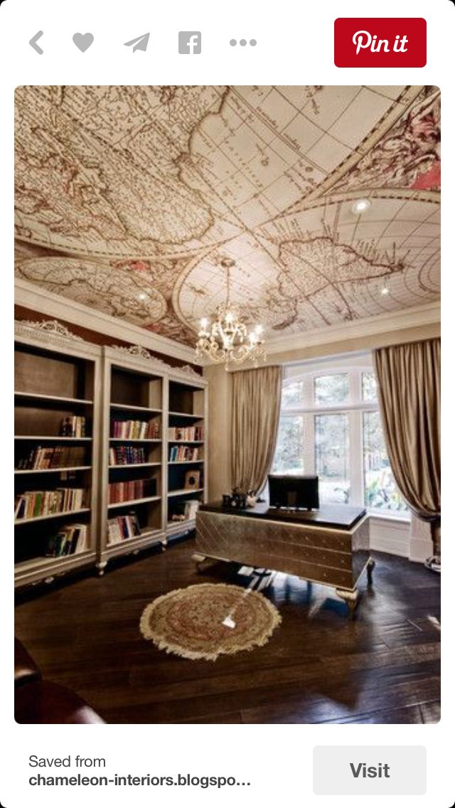 Awesome Interior Design, Home Decor, Home Accessories, Ceilings, Maps, Rooms,  Offices