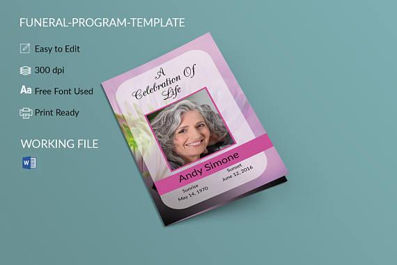 Funeral Program Template Memorial Program Obituary Template - free obituary template