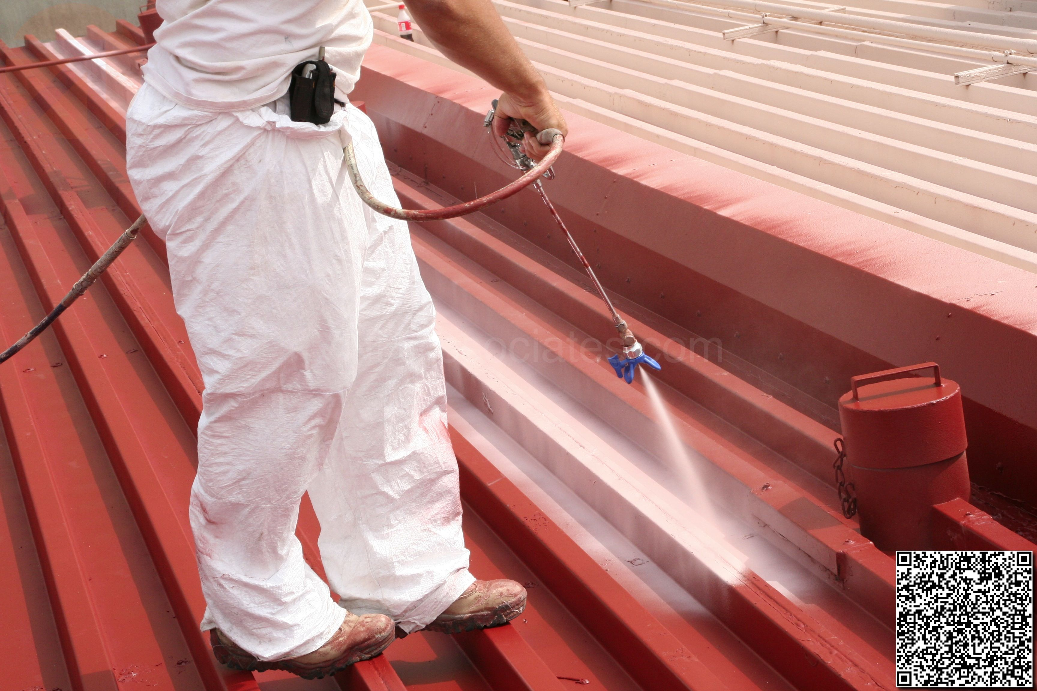 Conklin Elastomeric Foam Membrane White Roof Products And Installation Photos Roofing Foam Photo