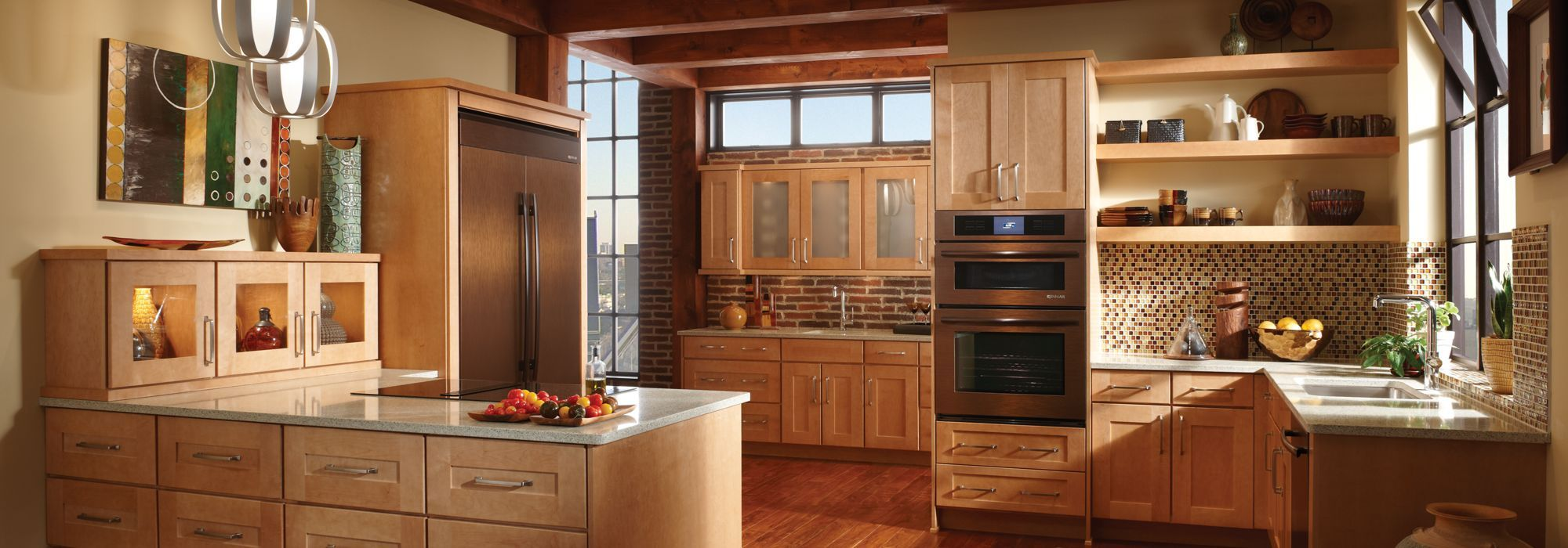 RIGBY_OA03 (2000×700) | Kitchen cabinets, Hickory kitchen ...