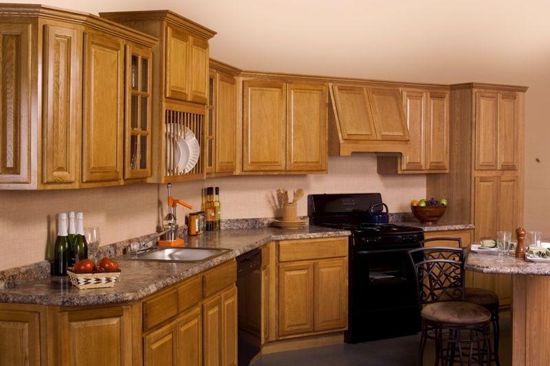 Distinct Advantage Kitchen and Bath - Adrian Oak Cabinets ...