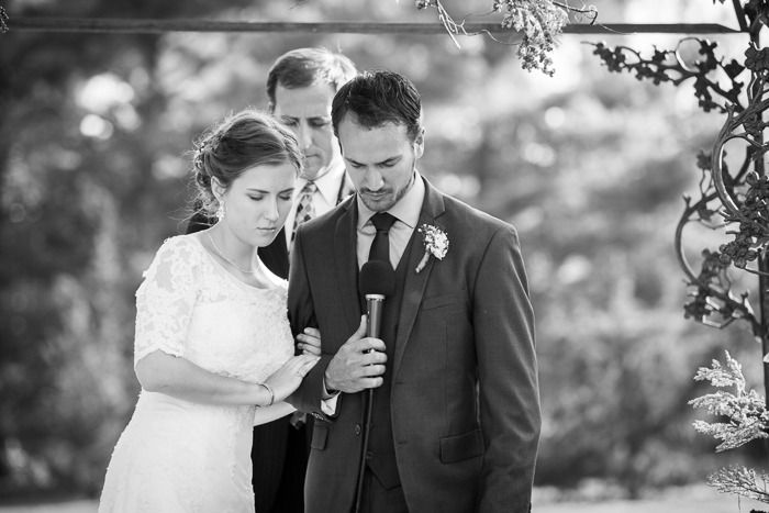 Praying together at the alter. So precious - I would love to do this. Charles and Hannah : Wedding | Pratt Place Inn and Barn Wedding Photographer