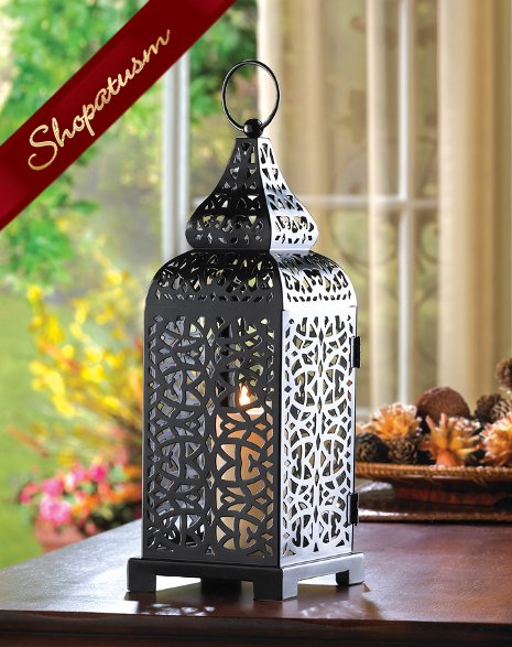 12 Wholesale Lanterns Moroccan Centerpiece Black Tower Lanterns Bulk Lot Wholesale Lanterns Candle Lanterns Iron Candle