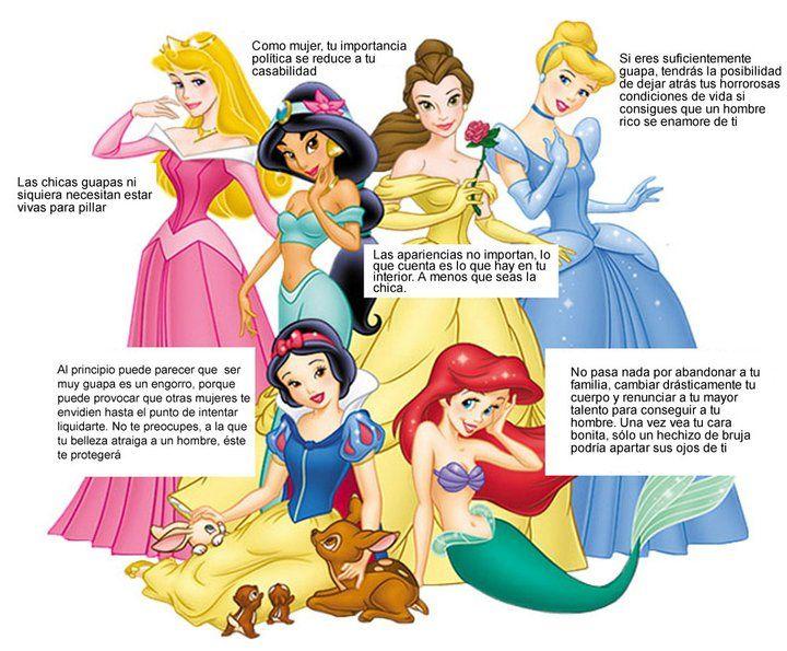Mensajes subliminales de las Princesas Disney