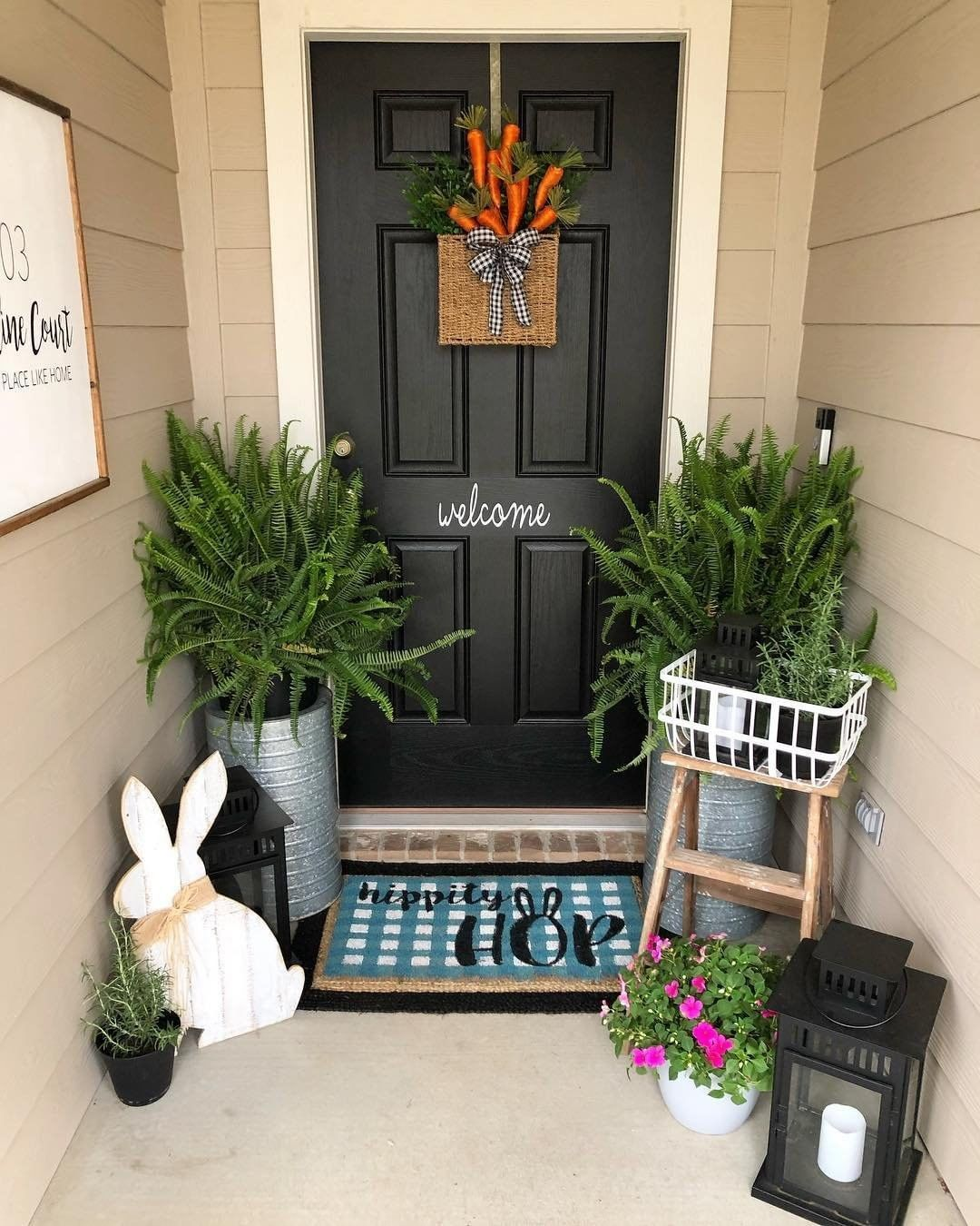 Better Homes Gardens On Instagram Faithfootballandfairytales Front Door Is All Dressed Up For Small Porch Decorating Spring Porch Decor Porch Decorating
