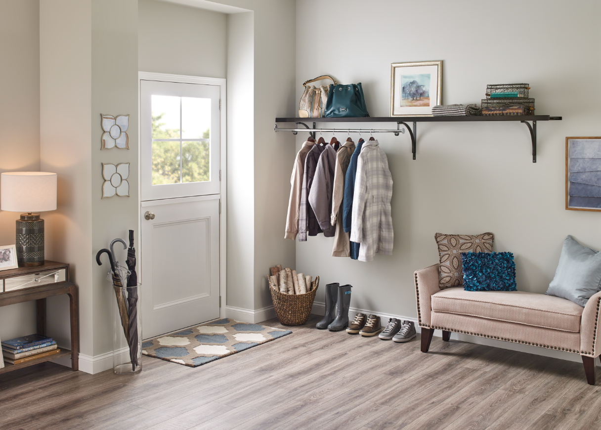 If You Donu0027t Have A Coat Closet, Make Your Own With Premium Wood Shelving  From ClosetMaid! #HomeDepot #Entryway #CoatCloset #EntrywayStorage