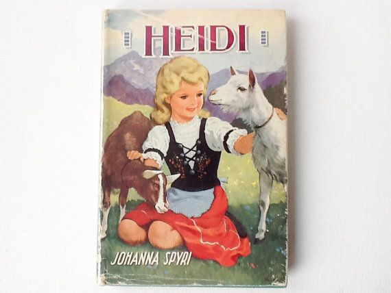 Rare Vintage Heidi Book Johanna Spyri Dean S Classic Etsy Childhood Children Stories A New Home Paraphrased From By