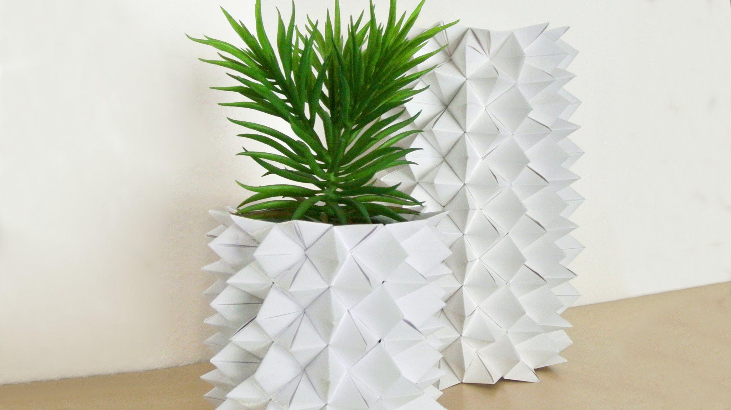 wer h tte gedacht das man aus mehreren himmel h lle origami eine so stylische vase basteln. Black Bedroom Furniture Sets. Home Design Ideas