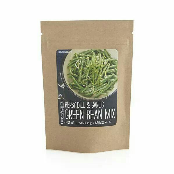 Crate and Barrel herby dill & garlic green bean mix