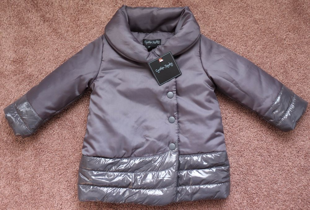 Nwt Cynthia Rowley Silver Gray Puffer Coat Toddler Girls 18 Months