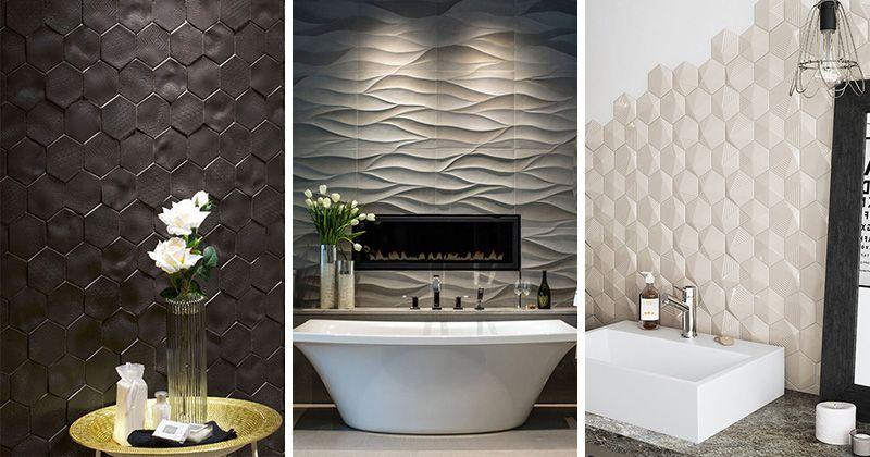 Bathroom Tile Ideas   Install 3D Tiles To Add Texture To Your Bathroom