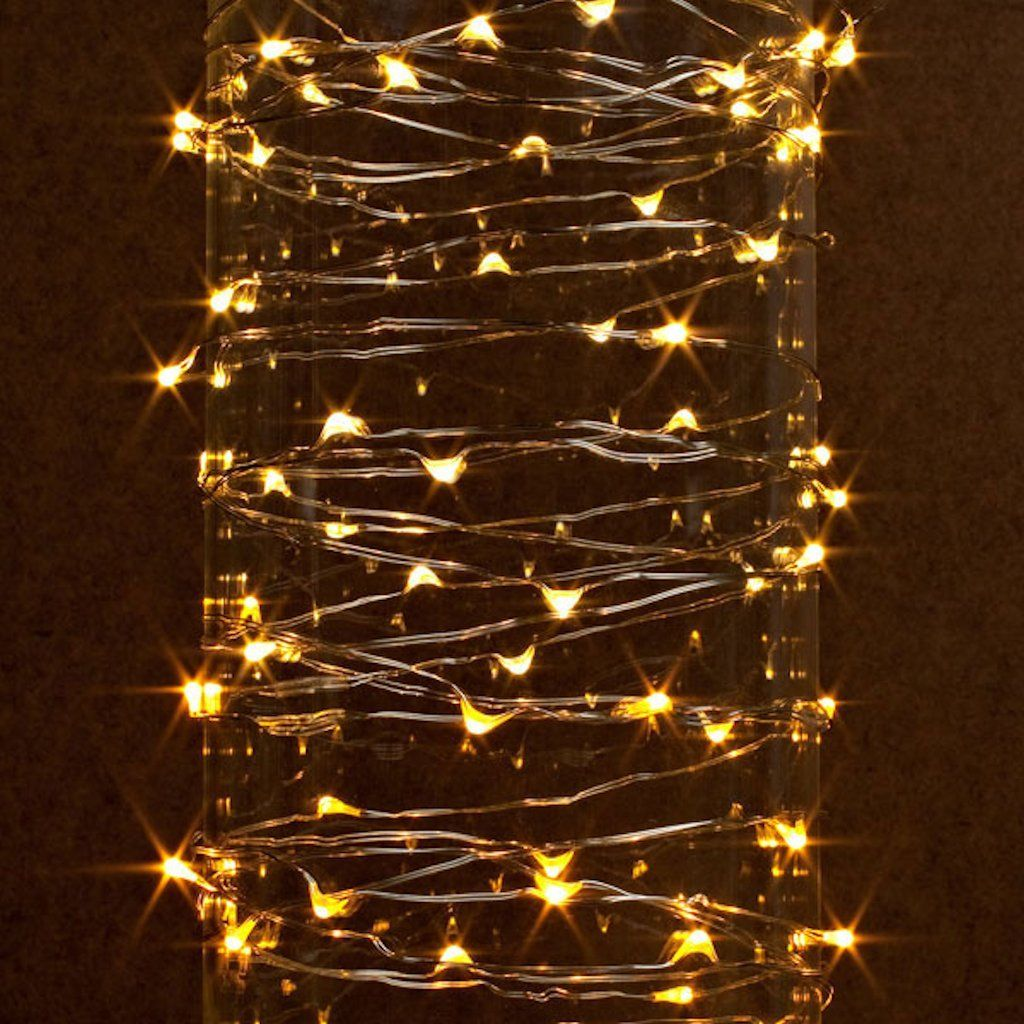 gerson 38624 60 light 20 silver wire warm white battery operated outdoor led micro miniature christmas light string set with timer find out more about