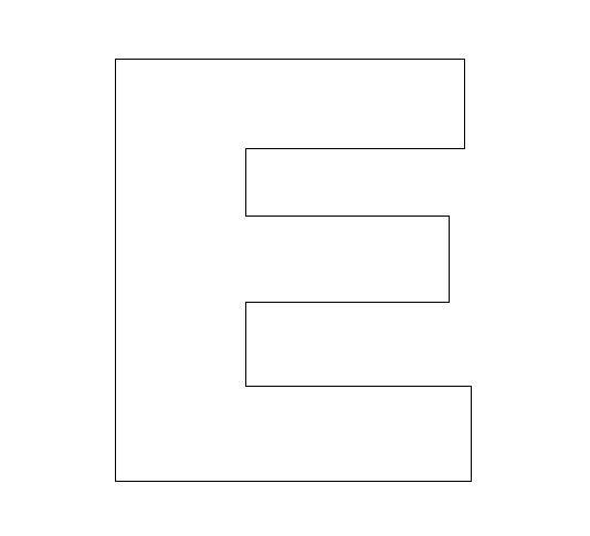 Worksheets Letter E Cursive Stencil Printable alphabet felt board craft crafts print your letter e template at allkidsnetwork com