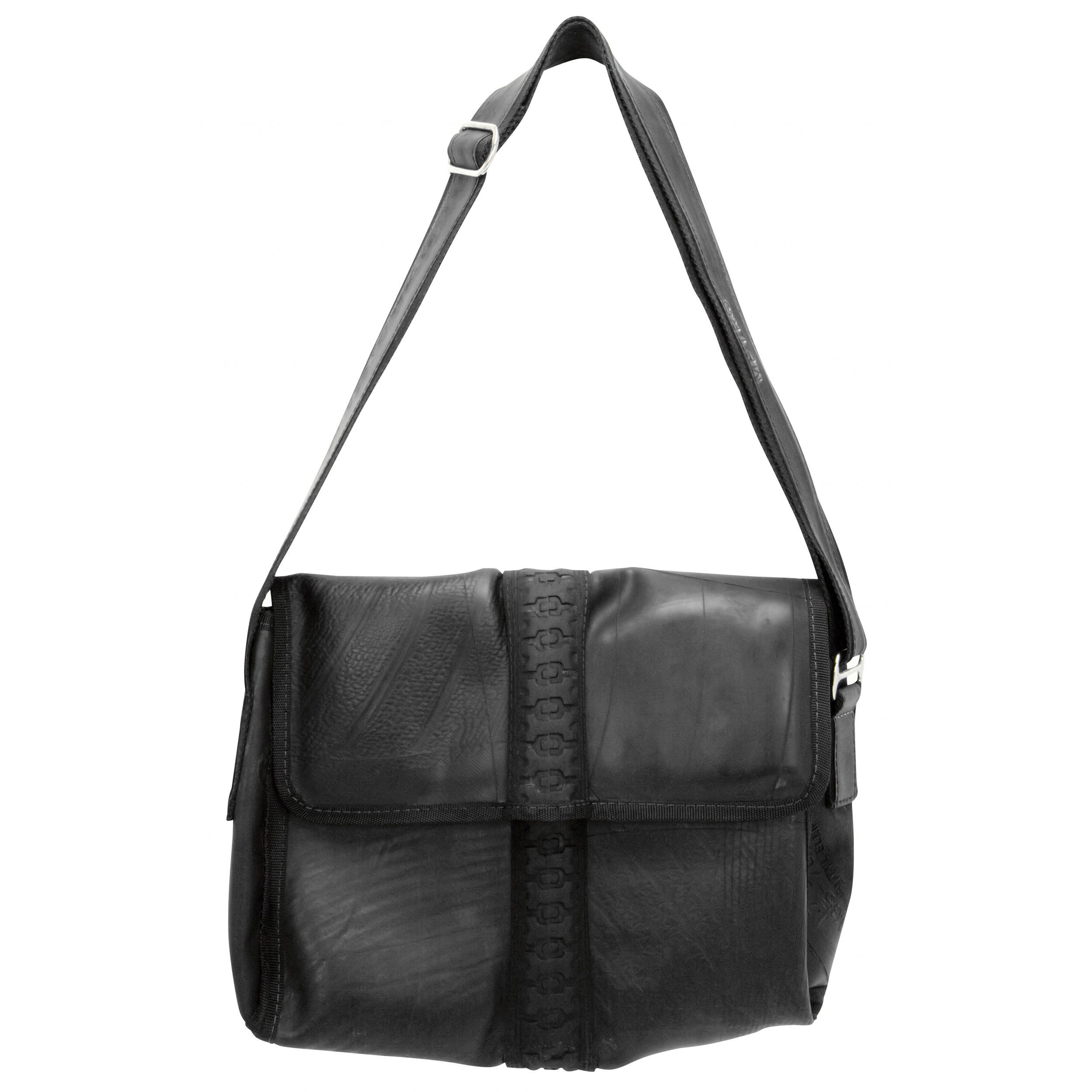 Recycled Tire and Inner Tube Messenger Bag - Conserve in 2018 ... aa05deb89e