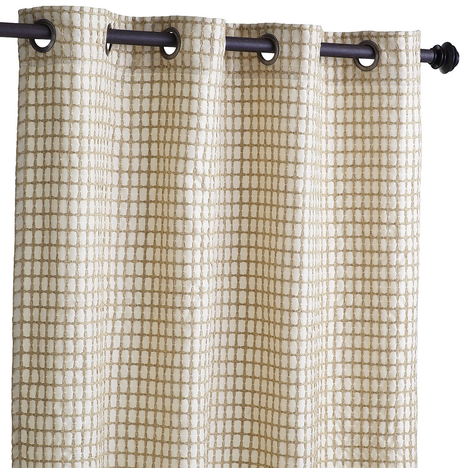 Textured Waffle Grommet Top Curtain Natural Pier 1
