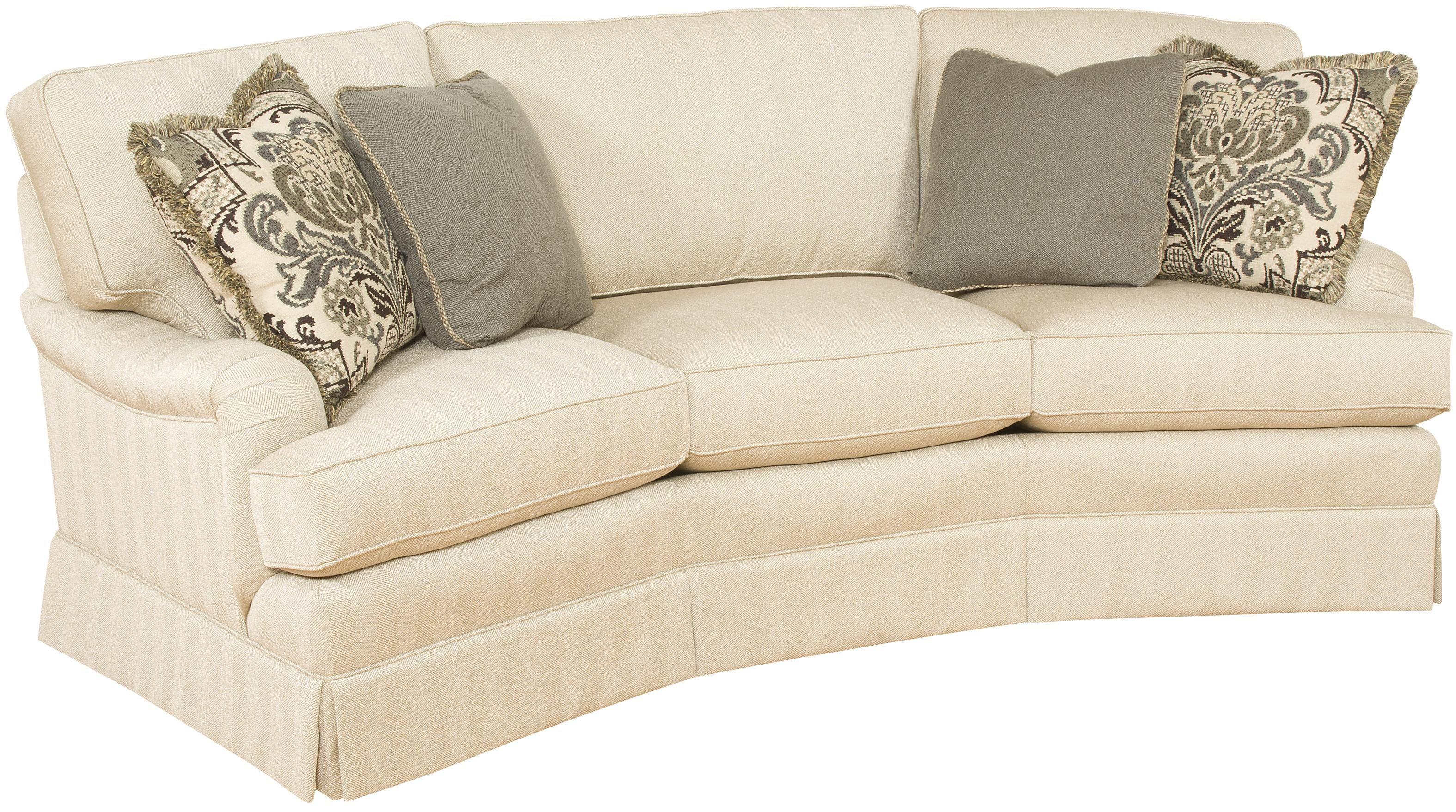 Chatham Customizable Conversation Sofa with English Arms and Skirt ...