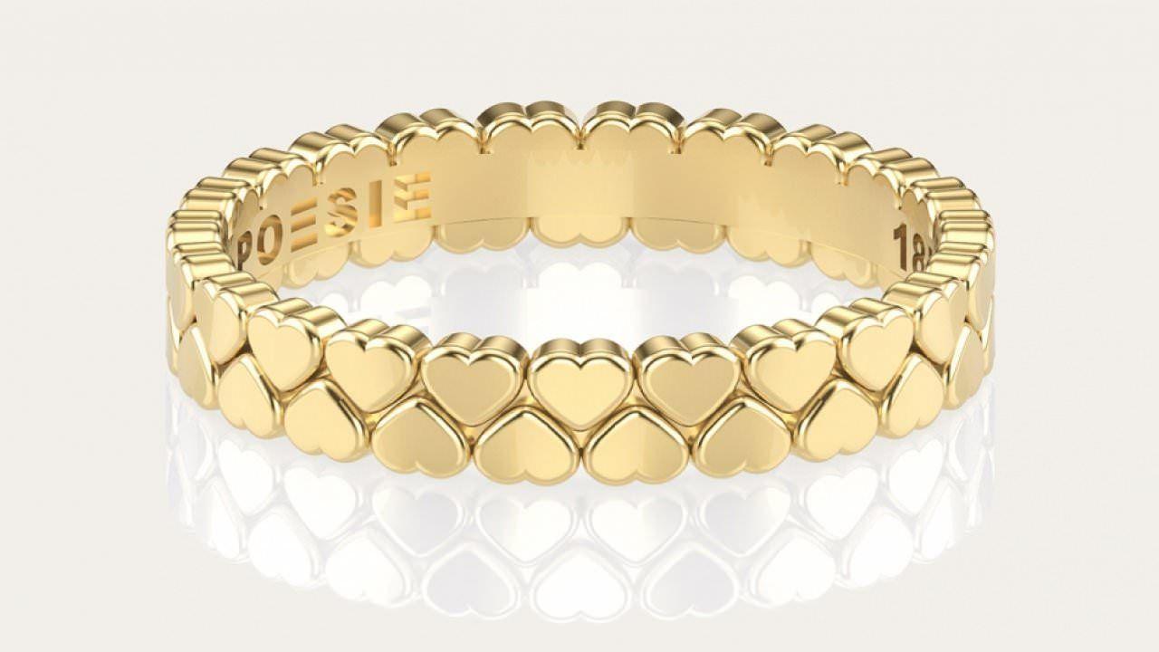 A Aliança Hearts é uma joia única. Ela é ideal para as noivas que querem  celebrar o seu noivado ou casamento de maneira um pouco diferente da b60de46e3a