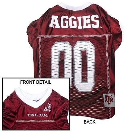 Texas A&M Aggies Jersey Large  15% Discount - Use code DOGGIE at Checkout   http://www.gingersdoggieheaven.com #TexasAM 15% Discount - Use code DOGGIE at Checkout