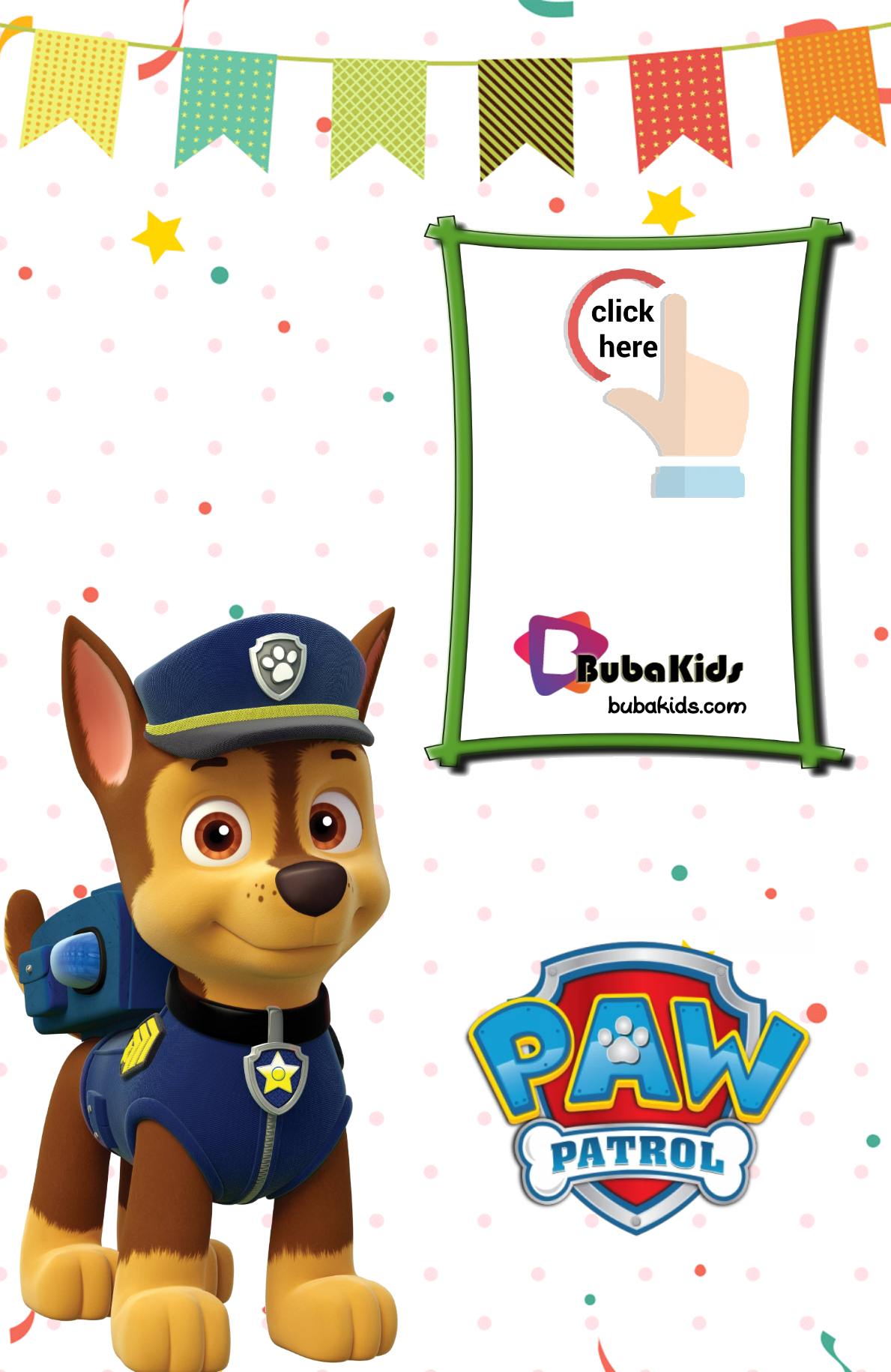 Chase Paw Patrol Free Printable Birthday Invitation Card Birthday Card Paw Patrol Birthday Card Free Printable Birthday Cards Printable Birthday Invitations