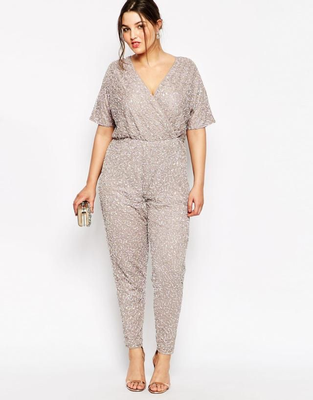 b08aae82909 7 Versatile Summer Plus Size Jumpsuits  ASOS Curve Kimono Jumpsuit in  Sequins