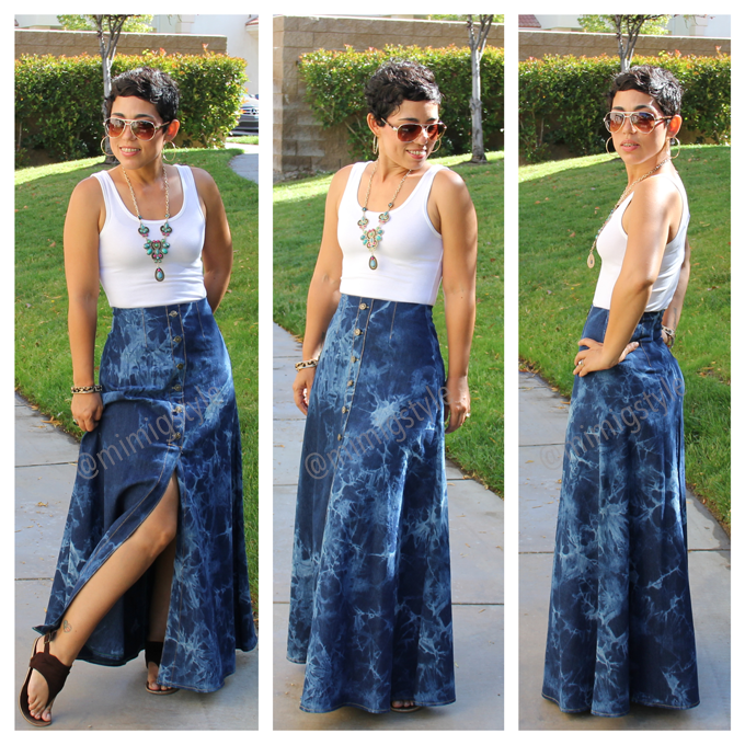 Diy Tie Dye Maxi Skirt Tank In 2019 Diy Maxi Skirt Diy