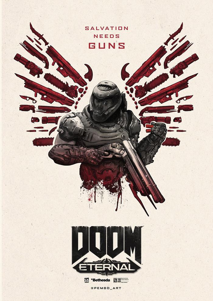 Doom Eternal Created By Jack Pemberton In 2020 Doom Doom Game Gaming Posters