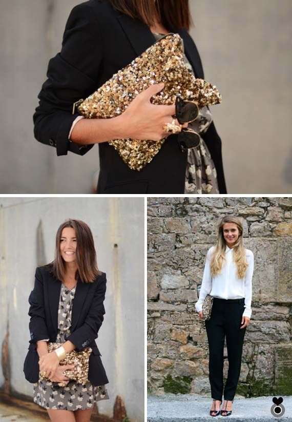 loft in soho: Must Have: Zara gold sequin clutch