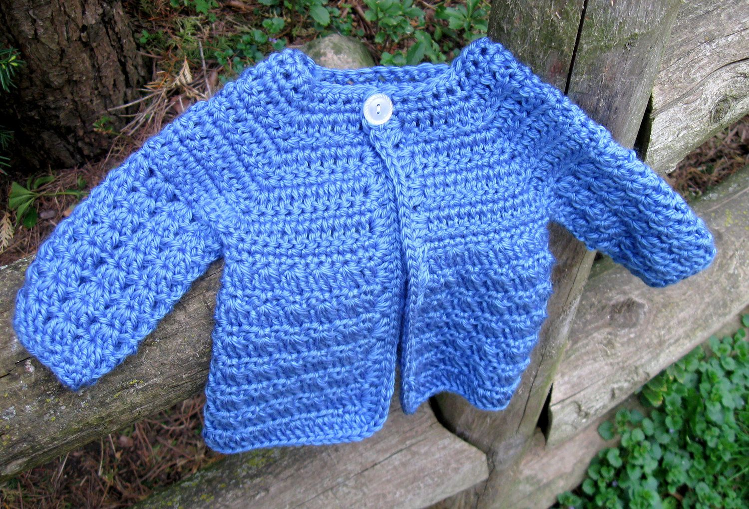 Crochet Pattern, Baby Sweater, Perfect for Boys or Girls, Newborn to ...